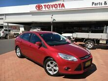 2012 Ford Focus LW MK2 Trend Red 6 Speed Automatic Sedan Dubbo 2830 Dubbo Area Preview