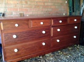 STAG Chest of Drawers for sale - 12 drawer unit with 'cracked porcelain' drawer knobs