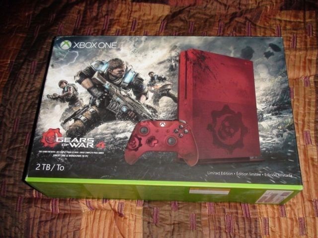 XBOX ONE S 2TB CONSOLE GEARS OF WAR 4 LIMITED EDITION BUNDLE.