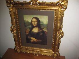 Lovely Glazed Framed Picture Print Of The Mona Lisa £35.00 ono
