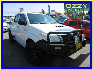 2012 Toyota Hilux KUN26R MY12 SR (4x4) Glacier White 5 Speed Manual Dual Cab Pick-up Penrith Penrith Area Preview