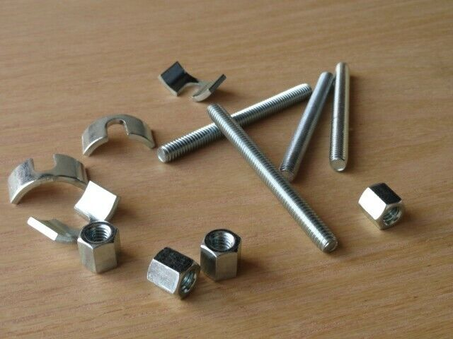 Bed Frame Assembly Replacement Hardware Kit 4 Rods, 4 Washers, 4 Nuts Ships Free