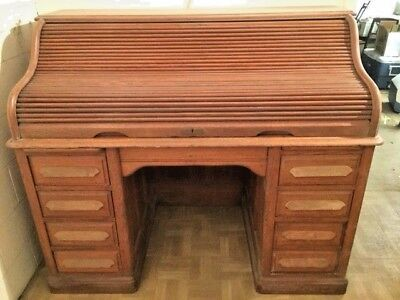 Used, Antique Quarter Sawn White Oak Roll Top Desk for sale Huntingdon  Valley - Oak Roll Top Desk For Sale88 Ads For Oak Roll Top Desks