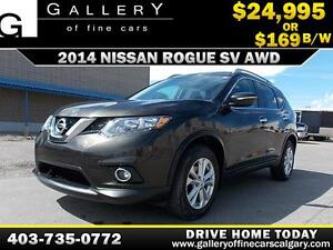 2014 Nissan Rogue 2.5SV AWD $169 bi-weekly APPLY NOW DRIVE NOW