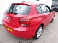 BMW 1 SERIES 2.0 118D SE 5d AUTO 141 BHP (red) 2012