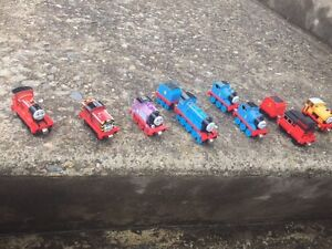 Official Thomas the Train figurines, 11 in total