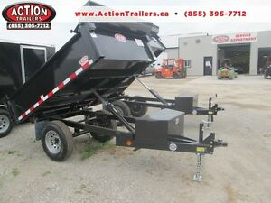 Single axle dump trailer - Comes loaded w/tarp kit and tool box London Ontario image 1
