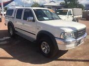 2006 Ford Courier PH (Upgrade) XLT Crew Cab 4x2 White 5 Speed Manual Utility Rosslea Townsville City Preview