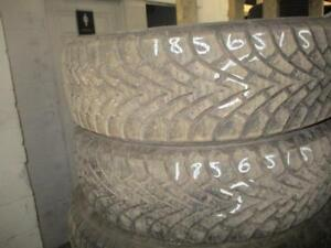 185/65 R15 GOODYEAR WINTER TIRES USED SNOW TIRES (SET OF 2) - APPROX. 85% TREAD