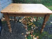 Solid antique pine dining table - £50