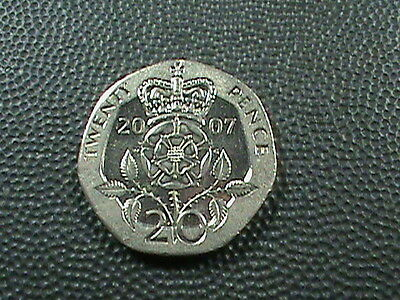GREAT  BRITAIN   20 pence   2007   BRILLIANT  UNCIRCULATED