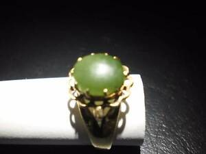 Ladies 9ct Yellow Gold and Jade ring. Thornton Maitland Area Preview
