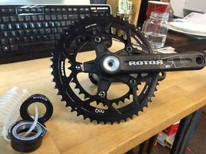 New never used 175mm Rotor 2D Crank and bottom bracket