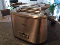 AEG AT7800 7 Series Digital 2-Slice Toaster - Stainless Steel, barely used