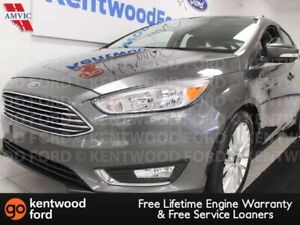 2018 Ford Focus Titanium FWD, heated power leather seats, sunroo