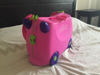 Trunki Ride-on Suitcase - Terrance (Pink) with Tidy Bag