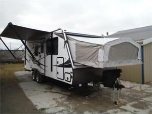 2019 Solaire 185X Hybrid Trailer -3 full size queen beds-4096LBS