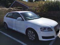 White Audi A3 1.6 58 Plate