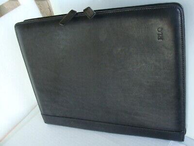 Levenger Fine Leather Tools Portfolio Notepad Document Organizer Black Mens