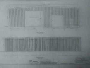 Steel Building sub structure for 60x100 ft building with drawing