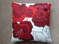 RED & CREAM CUSHION