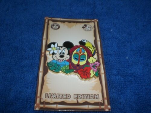 Disney 2020 DLR Annual Passholder MINNIE MOUSE ENCHANTED TIKI ROOM  LE 3-D Pin