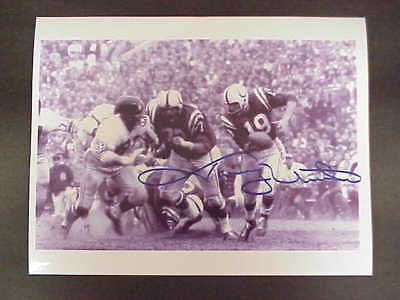 JOHNNY UNITAS AUTOGRAPHED ACTION PHOTO P/P COLTS