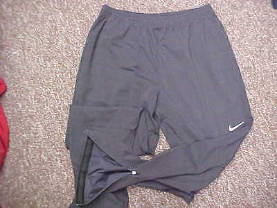 Official Gray Nike Dri-Fit Adult Warm-Up Track/Running Pants Size: Large