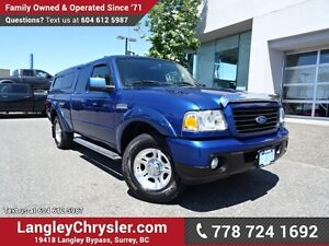 2008 Ford Ranger Sport W/ 5-SPEED MANUAL, MATCHING CANOPY & T...