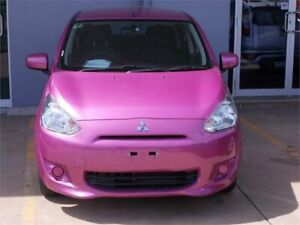 2013 Mitsubishi Mirage LA ES Pink Continuous Variable Hatchback Fyshwick South Canberra Preview