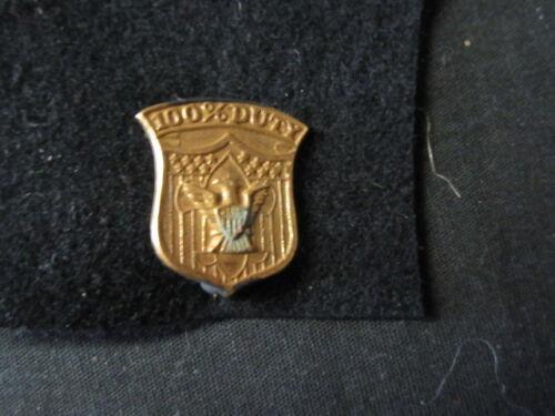 Boy Scout 100% Duty Pin    c20