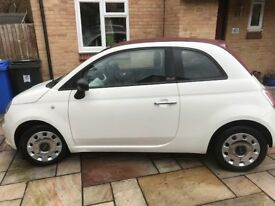 Fiat 500 Convertible. Twin Air engine. Low mileage. £0 annual tax. New exhaust last year.