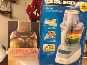 New Food Processor, Black&Decker, 10 cup, 2 speed