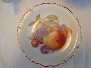"3 Vintage Schumann Arzberg Bavaria Germany ""Fruit Plates"""