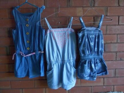 GIRLS DENIM PLAYSUITS- 1X SIZE 7, 2X SIZE 8- ALMOST NEW, 3.50 EA Mudgee Mudgee Area Preview