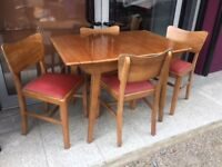 Retro table and chair set