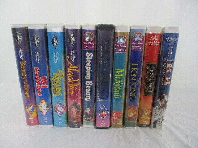 Lot of 10 Disney VHS 4 Black Diamonds 4 Masterpieces and 2 Home Video