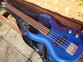 An Aria Bass Guitar