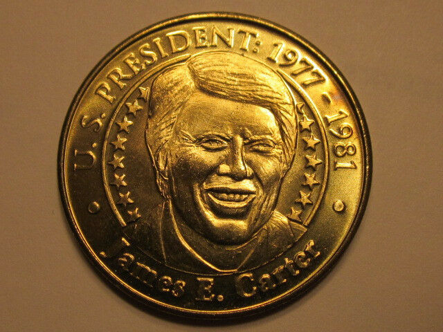 US President James E. Carter Sunoco Presidential Coin Series 2000 token