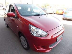 2013 Mitsubishi Mirage LA MY14 ES Red Mica 1 Speed Constant Variable Hatchback Enfield Port Adelaide Area Preview