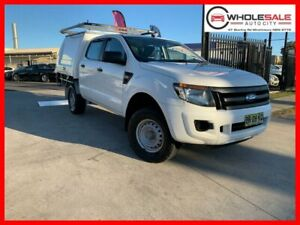 2012 Ford Ranger PX XL Hi-Rider Cab Chassis Double Cab 4dr Spts Auto 6sp, 4x2 Cool White Minchinbury Blacktown Area Preview