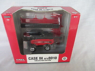 Case IH AFX8010 Combine w/ 2 Heads DEALER COLLECTOR EDITION 1/64 Ertl Toy 14289A