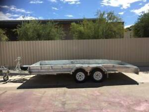 "16X6'4"" COMMERCIAL GALVANISED BEAVERTAIL CAR TRAILER WITH RAMPS Pooraka Salisbury Area Preview"