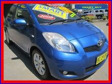 2009 Toyota Yaris NCP90R 08 Upgrade Edge Blue 4 Speed Automatic Hatchback Canada Bay Canada Bay Area Preview