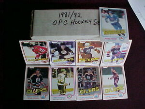 1981-82 OPC NHL HOCKEY complete 396 card set NM/MINT)
