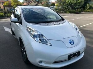 2013 Nissan Leaf ZE0 White Reduction Gear Hatchback Five Dock Canada Bay Area Preview