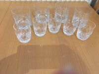 Lead cut crystal whiskey and barrel tumblers