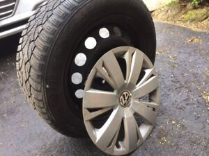 Snow Tires on Rims 205/55R16 from  VW Golf Wagon
