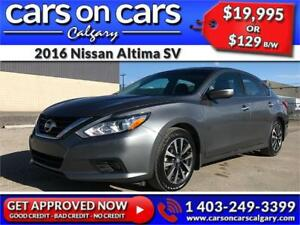 2016 Nissan Altima SV w/BackUp Cam, Sunroof, BlueTooth $129 B/W