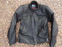 Sportex mens leather motorbike jacket, Leather bikers jacket £35